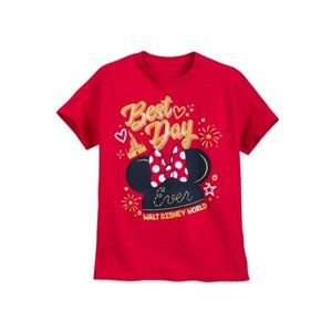 Disney Girls' Best Day Ever Short Sleeve Tee - M